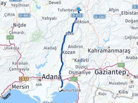 Adana Tufanbeyli Yumurtalık Arası Kaç Km? Arası Kaç Km Saat? Nerede Yol Haritası Yakıt, Rota ve Mesafe Hesaplama