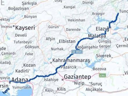 Adana Tunceli Arası Kaç Km - Kaç Saat? Arası Kaç Km Saat? Nerede Yol Haritası Yakıt, Rota ve Mesafe Hesaplama