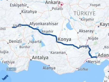 Adana Uşak Arası Kaç Km - Kaç Saat? Arası Kaç Km Saat? Nerede Yol Haritası Yakıt, Rota ve Mesafe Hesaplama