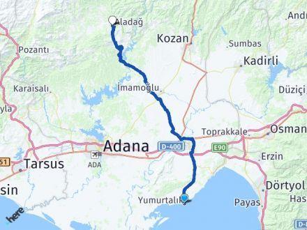 Adana Yumurtalık Aladağ Arası Kaç Km? Arası Kaç Km Saat? Nerede Yol Haritası Yakıt, Rota ve Mesafe Hesaplama