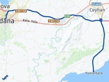 Adana Yumurtalık Arası Kaç Km? Yol Haritası - Km Hesaplama Arası Kaç Km Saat? Nerede Yol Haritası Yakıt, Rota ve Mesafe Hesaplama