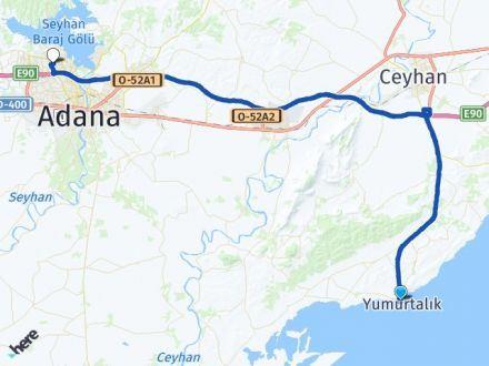 Adana Yumurtalık Çukurova Arası Kaç Km? Arası Kaç Km Saat? Nerede Yol Haritası Yakıt, Rota ve Mesafe Hesaplama