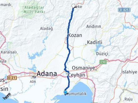 Adana Yumurtalık Feke Arası Kaç Km? Arası Kaç Km Saat? Nerede Yol Haritası Yakıt, Rota ve Mesafe Hesaplama