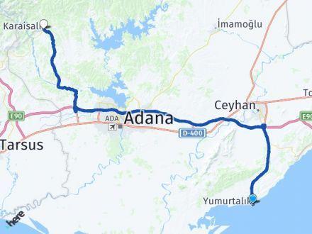 Adana Yumurtalık Karaisalı Arası Kaç Km? Arası Kaç Km Saat? Nerede Yol Haritası Yakıt, Rota ve Mesafe Hesaplama
