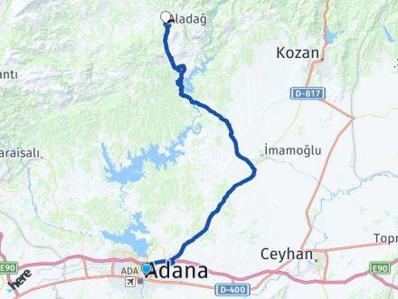 Adana Yüreğir Aladağ Arası Kaç Km? Arası Kaç Km Saat? Nerede Yol Haritası Yakıt, Rota ve Mesafe Hesaplama