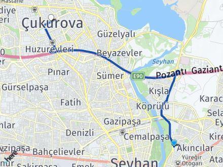 Adana Yüreğir Çukurova Arası Kaç Km? Arası Kaç Km Saat? Nerede Yol Haritası Yakıt, Rota ve Mesafe Hesaplama