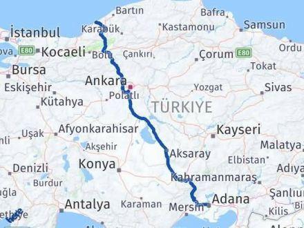 Adana Zonguldak Arası Kaç Km - Kaç Saat? Arası Kaç Km Saat? Nerede Yol Haritası Yakıt, Rota ve Mesafe Hesaplama
