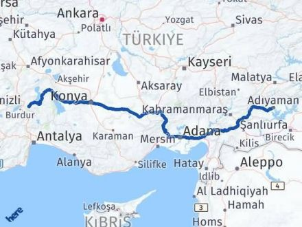 Adıyaman Isparta Arası Kaç Km - Kaç Saat? Arası Kaç Km Saat? Nerede Yol Haritası Yakıt, Rota ve Mesafe Hesaplama