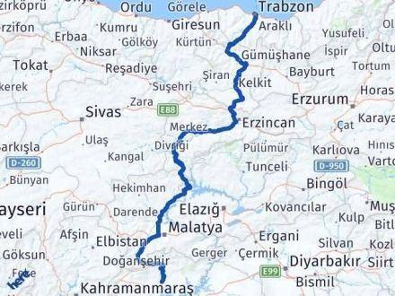 Adıyaman Trabzon Arası Kaç Km - Kaç Saat? Arası Kaç Km Saat? Nerede Yol Haritası Yakıt, Rota ve Mesafe Hesaplama