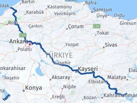 Adıyaman Zonguldak Arası Kaç Km? Kaç Saat? - Km hesaplama Arası Kaç Km Saat? Nerede Yol Haritası Yakıt, Rota ve Mesafe Hesaplama