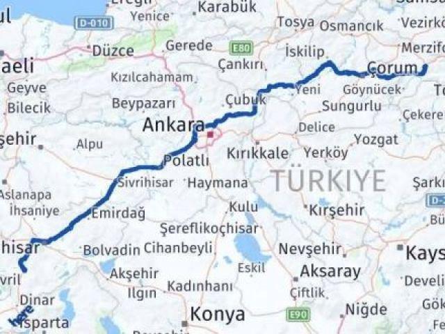 Afyon Amasya Arası Kaç Km - Kaç Saat? Arası Kaç Km Saat? Nerede Yol Haritası Yakıt, Rota ve Mesafe Hesaplama