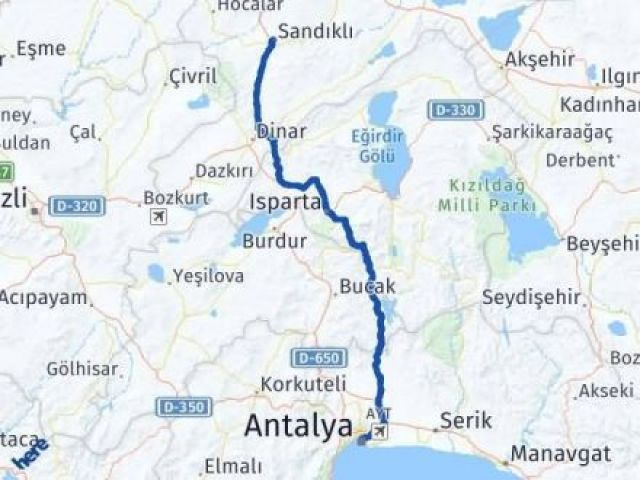 Afyon Antalya Arası Kaç Km - Kaç Saat? Arası Kaç Km Saat? Nerede Yol Haritası Yakıt, Rota ve Mesafe Hesaplama