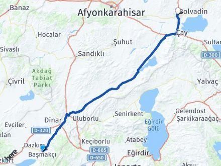 Afyon Başmakçı Bolvadin Arası Kaç Km? Arası Kaç Km Saat? Nerede Yol Haritası Yakıt, Rota ve Mesafe Hesaplama