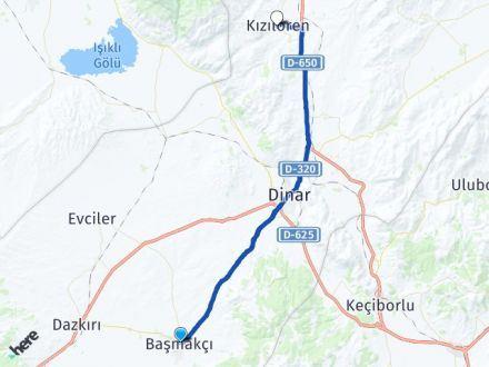 Afyon Başmakçı Kızılören Arası Kaç Km? Arası Kaç Km Saat? Nerede Yol Haritası Yakıt, Rota ve Mesafe Hesaplama