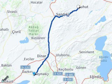 Afyon Başmakçı Şuhut Arası Kaç Km? Arası Kaç Km Saat? Nerede Yol Haritası Yakıt, Rota ve Mesafe Hesaplama