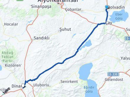 Afyon Bolvadin Dinar Arası Kaç Km? Arası Kaç Km Saat? Nerede Yol Haritası Yakıt, Rota ve Mesafe Hesaplama