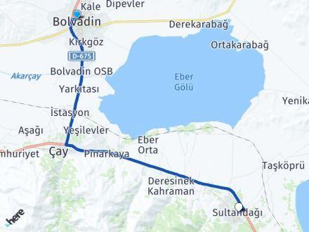 Afyon Bolvadin Sultandağı Arası Kaç Km? Arası Kaç Km Saat? Nerede Yol Haritası Yakıt, Rota ve Mesafe Hesaplama