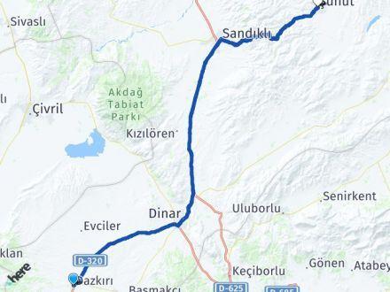 Afyon Dazkırı Şuhut Arası Kaç Km? Arası Kaç Km Saat? Nerede Yol Haritası Yakıt, Rota ve Mesafe Hesaplama