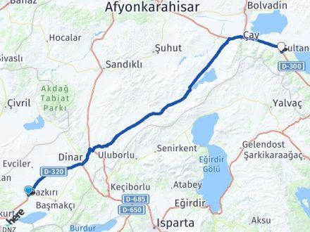 Afyon Dazkırı Sultandağı Arası Kaç Km? Arası Kaç Km Saat? Nerede Yol Haritası Yakıt, Rota ve Mesafe Hesaplama