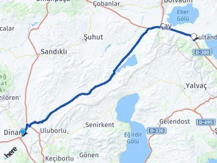 Afyon Dinar Sultandağı Arası Kaç Km? Arası Kaç Km Saat? Nerede Yol Haritası Yakıt, Rota ve Mesafe Hesaplama