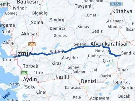 Afyon İzmir Arası Kaç Km - Kaç Saat? Arası Kaç Km Saat? Nerede Yol Haritası Yakıt, Rota ve Mesafe Hesaplama