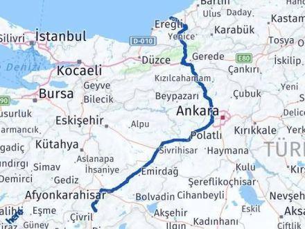 Afyon Zonguldak Arası Kaç Km? Kaç Saat? - Km hesaplama Arası Kaç Km Saat? Nerede Yol Haritası Yakıt, Rota ve Mesafe Hesaplama