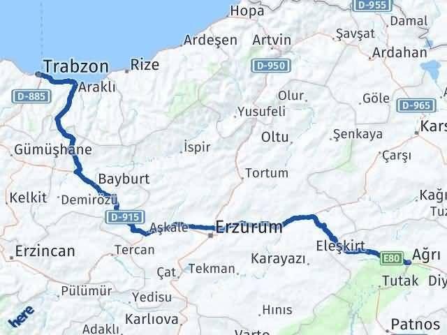 Ağrı ile Trabzon Arası Kaç Km? Kaç Saat? - Kmhesaplama.com Arası Kaç Km Saat? Nerede Yol Haritası Yakıt, Rota ve Mesafe Hesaplama