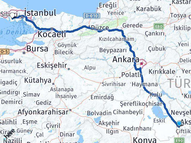 Laleli Aksaray Esenyurt Arası Kaç Km? Arası Kaç Km Saat? Nerede Yol Haritası Yakıt, Rota ve Mesafe Hesaplama