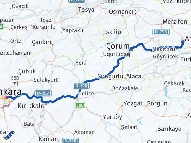 Amasya ile Ankara Arası Kaç Km? Kaç Saat? - Kmhesaplama.com Arası Kaç Km Saat? Nerede Yol Haritası Yakıt, Rota ve Mesafe Hesaplama