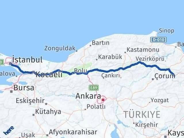 Amasya ile İstanbul Arası Kaç Km? Kaç Saat? Arası Kaç Km Saat? Nerede Yol Haritası Yakıt, Rota ve Mesafe Hesaplama