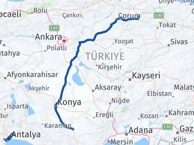 Amasya ile Karaman Arası Kaç Km? Kaç Saat? Arası Kaç Km Saat? Nerede Yol Haritası Yakıt, Rota ve Mesafe Hesaplama