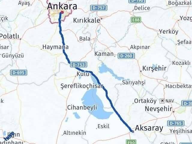 Ankara ile Aksaray Arası Kaç Km? Kaç Saat? Arası Kaç Km Saat? Nerede Yol Haritası Yakıt, Rota ve Mesafe Hesaplama