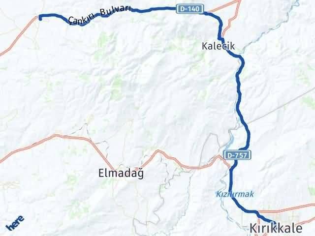 Ankara Akyurt Kırıkkale Arası Kaç Km? Arası Kaç Km Saat? Nerede Yol Haritası Yakıt, Rota ve Mesafe Hesaplama