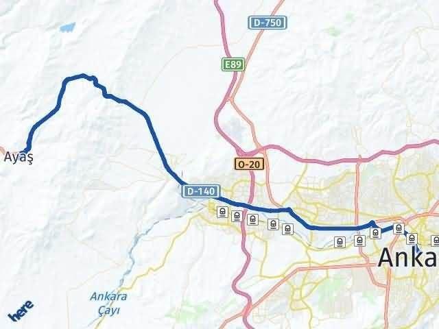 Ankara Ayaş Arası Kaç Km? Yol Haritası - Km Hesaplama Arası Kaç Km Saat? Nerede Yol Haritası Yakıt, Rota ve Mesafe Hesaplama