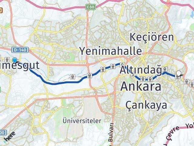 Ankara Etimesgut Mamak Arası Kaç Km? Arası Kaç Km Saat? Nerede Yol Haritası Yakıt, Rota ve Mesafe Hesaplama