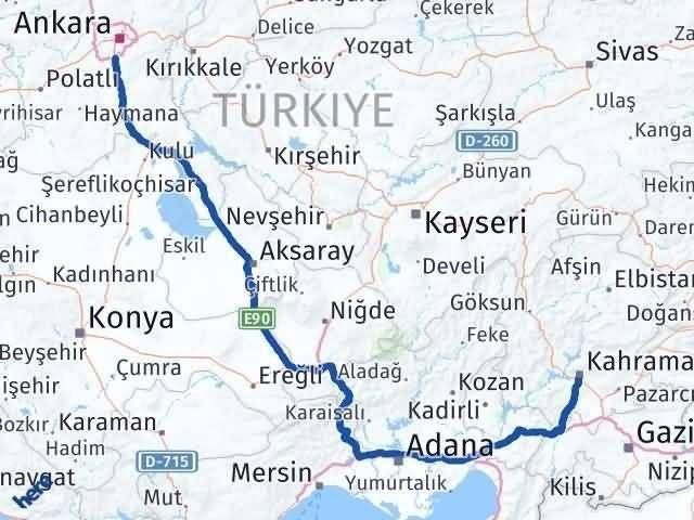 Ankara Gölbaşı   Maraş Arası Kaç Km? Arası Kaç Km Saat? Nerede Yol Haritası Yakıt, Rota ve Mesafe Hesaplama