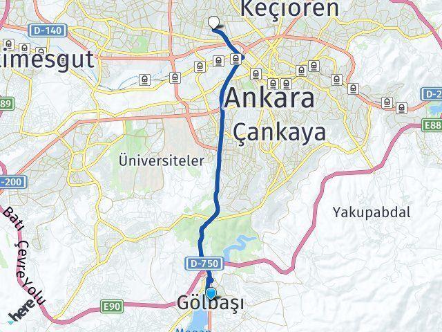 Gölbaşı Ankara Yenimahalle Arası Kaç Km? Arası Kaç Km Saat? Nerede Yol Haritası Yakıt, Rota ve Mesafe Hesaplama