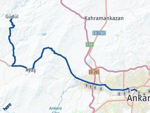 Ankara Güdül Arası Kaç Km Arası Kaç Km Saat? Nerede Yol Haritası Yakıt, Rota ve Mesafe Hesaplama