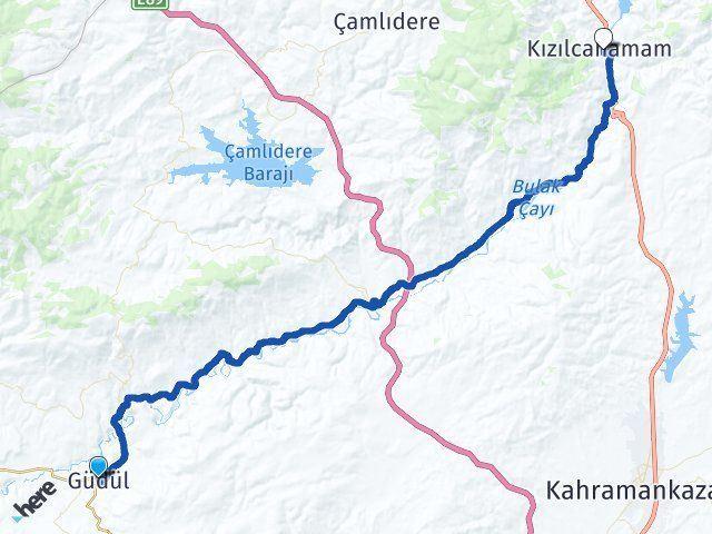 Ankara Güdül Kızılcahamam Arası Kaç Km? Arası Kaç Km Saat? Nerede Yol Haritası Yakıt, Rota ve Mesafe Hesaplama