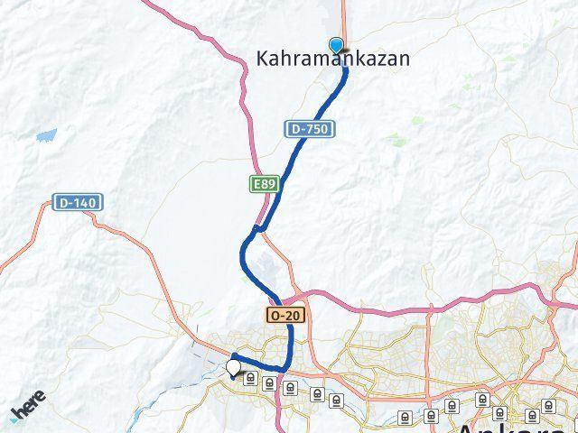 Ankara Kahramankazan Sincan Arası Kaç Km? Arası Kaç Km Saat? Nerede Yol Haritası Yakıt, Rota ve Mesafe Hesaplama