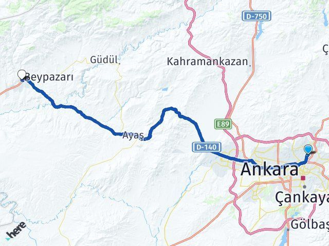 Ankara Keçiören Beypazarı Arası Kaç Km? Arası Kaç Km Saat? Nerede Yol Haritası Yakıt, Rota ve Mesafe Hesaplama