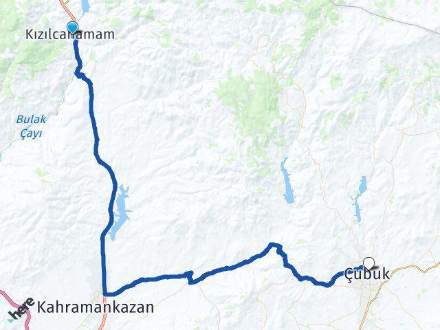 Ankara Kızılcahamam Çubuk Arası Kaç Km? Arası Kaç Km Saat? Nerede Yol Haritası Yakıt, Rota ve Mesafe Hesaplama