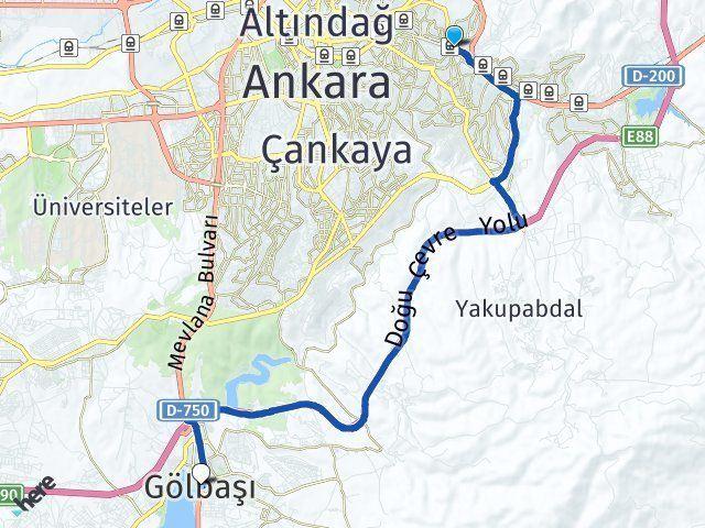 Ankara Mamak Gölbaşı Ankara Arası Kaç Km? Arası Kaç Km Saat? Nerede Yol Haritası Yakıt, Rota ve Mesafe Hesaplama