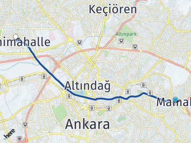 Ankara Mamak Yenimahalle Arası Kaç Km? Arası Kaç Km Saat? Nerede Yol Haritası Yakıt, Rota ve Mesafe Hesaplama