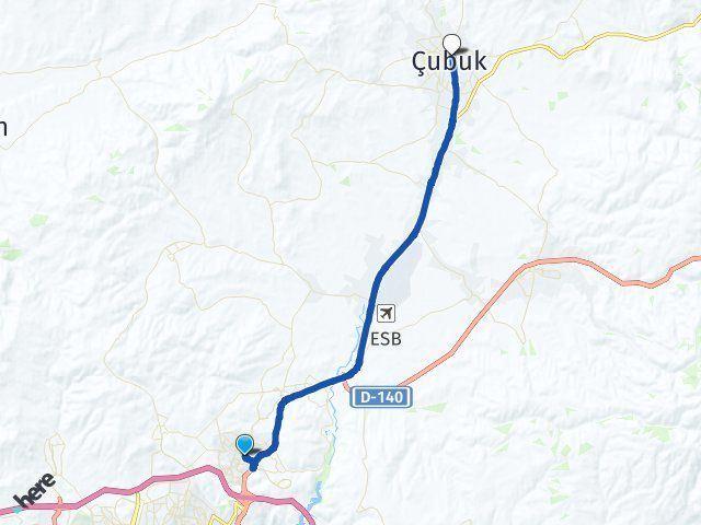 Ankara Pursaklar Çubuk Arası Kaç Km? Arası Kaç Km Saat? Nerede Yol Haritası Yakıt, Rota ve Mesafe Hesaplama