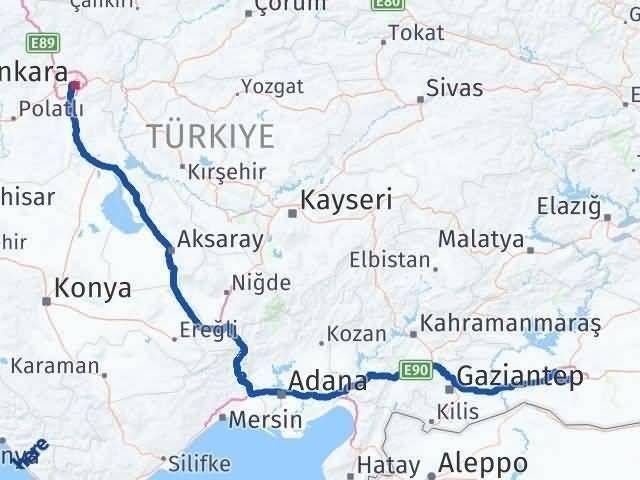 Ankara ile Şanlıurfa Arası Kaç Km? Kaç Saat? Arası Kaç Km Saat? Nerede Yol Haritası Yakıt, Rota ve Mesafe Hesaplama