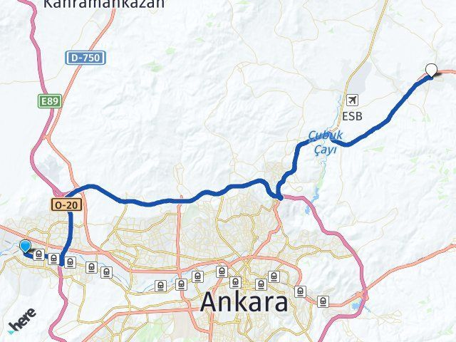 Ankara Sincan Akyurt Arası Kaç Km? Arası Kaç Km Saat? Nerede Yol Haritası Yakıt, Rota ve Mesafe Hesaplama