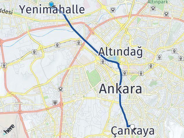 Ankara Yenimahalle Çankaya Arası Kaç Km? Arası Kaç Km Saat? Nerede Yol Haritası Yakıt, Rota ve Mesafe Hesaplama