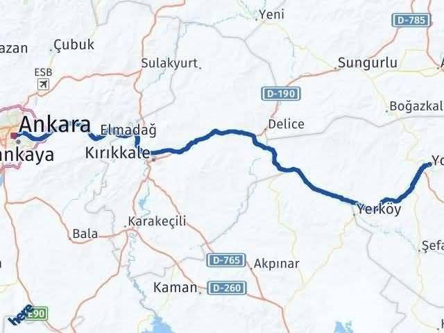 Ankara ile Yozgat Arası Kaç Km? Kaç Saat? - Kmhesaplama.com Arası Kaç Km Saat? Nerede Yol Haritası Yakıt, Rota ve Mesafe Hesaplama