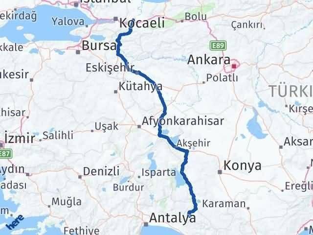 Antalya Akseki Sakarya Arası Kaç Km? Arası Kaç Km Saat? Nerede Yol Haritası Yakıt, Rota ve Mesafe Hesaplama